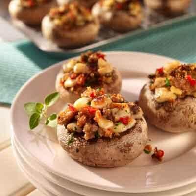 Italian Stuffed Mushrooms Image