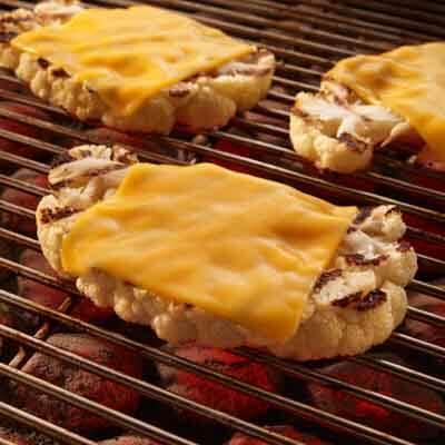 Grilled Cauliflower Steak with Cheese Image