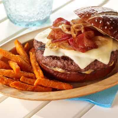 Bacon Onion Cheeseburger Image