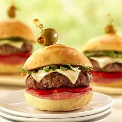 Antipasto Burger Sliders Image