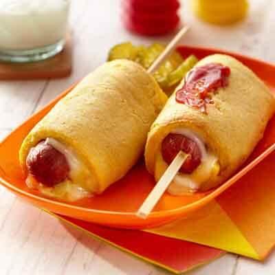Baked Cheesy Corn Dog Image