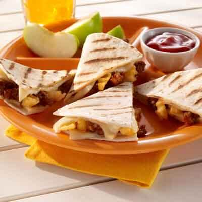 Burger & Fries Quesadilla Image
