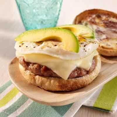 Sausage, Egg & Cheese Breakfast Sandwich Image