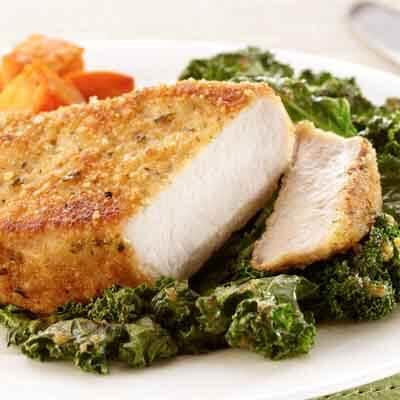 Pork Chops with Kale Image