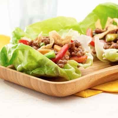 Asian Turkey Lettuce Wraps Image