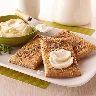 Everything Bagel Crackers With Cream Cheese Spread Image