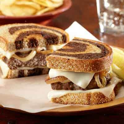 Patty Melts with Fried Onions Image