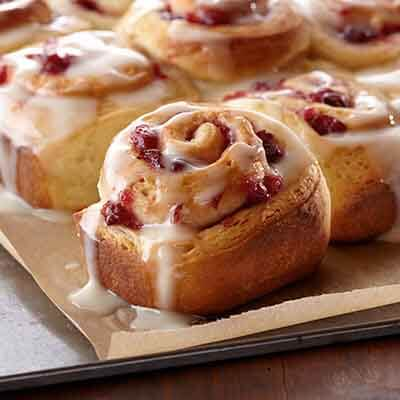 Cranberry Swirl Sweet Rolls Image