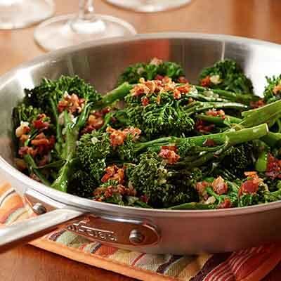 Baby Broccoli with Pancetta & Balsamic Glaze Image
