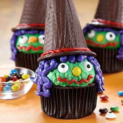Halloween Witch Cupcakes Image