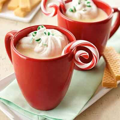 Peppermint White Hot Chocolate Image