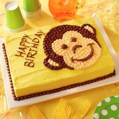 Enjoyable Banana Monkey Cake Recipe Land Olakes Funny Birthday Cards Online Alyptdamsfinfo