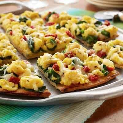 Mediterranean Breakfast Pizza Image