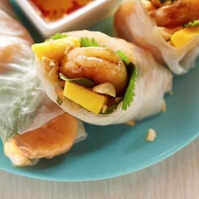 Mango & Shrimp Spring Rolls Image