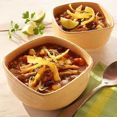 Slow Cooker Chicken Tortilla Soup Image