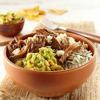 Rice Bowl With Grilled Corn Guacamole Image