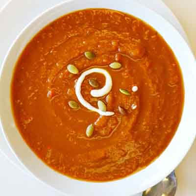 Pumpkin Soup With Toasted Pepitas Image