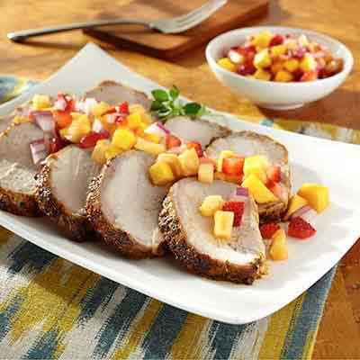 Roasted Pork Loin With Fruit Salsa Image