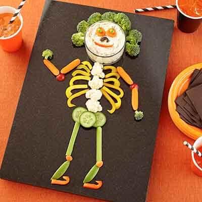 Veggie Skeleton Platter Recipe