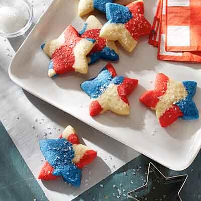 Red, White & Blue Tie-Dyed Cookies Image