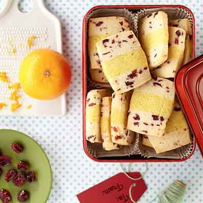 Cranberry Orange Layered Cookies Image