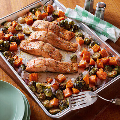 Cajun Salmon Sheet Pan Dinner