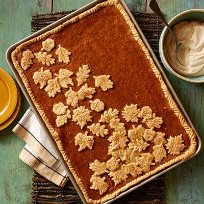 Pumpkin Sheet Pan Pie