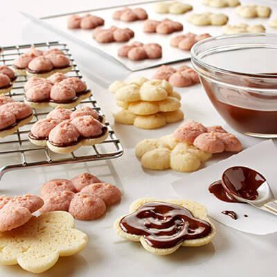 Neapolitan Spritz Sandwich Cookies