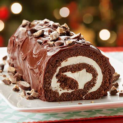 Chocolate Malted Milk Cake Roll