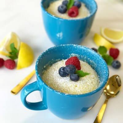 Lemon Pudding Mug Cake for Two