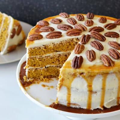 Pecan Pumpkin Torte