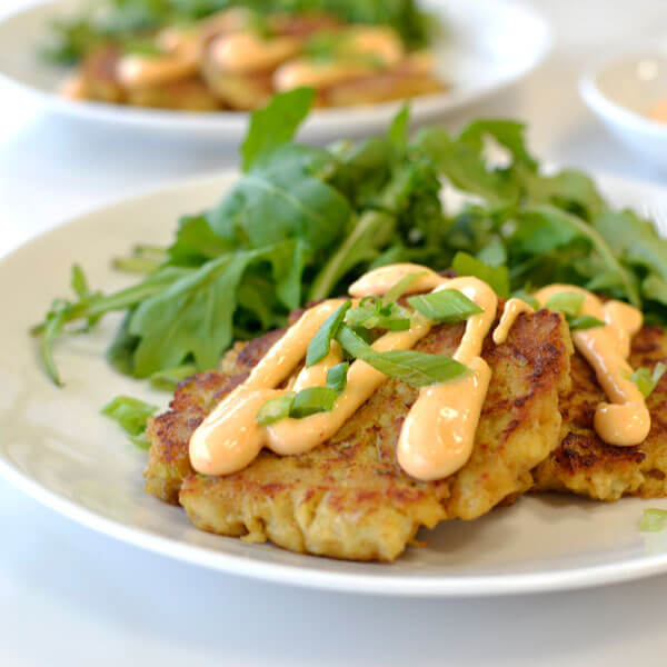 Crab Cakes with Ginger and Spicy Mayo