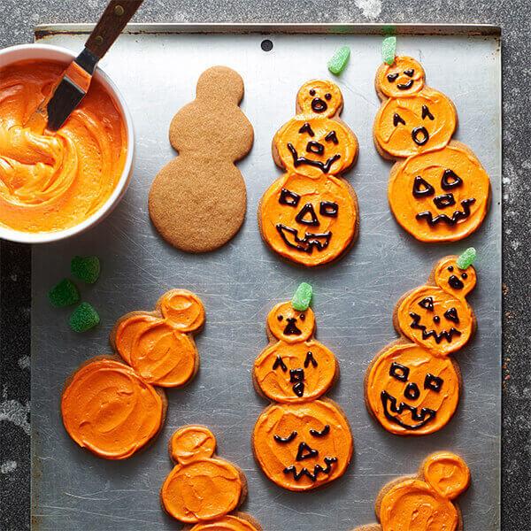 Jack O Lantern cookies image