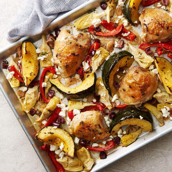 Mediterranean Sheet Pan Chicken