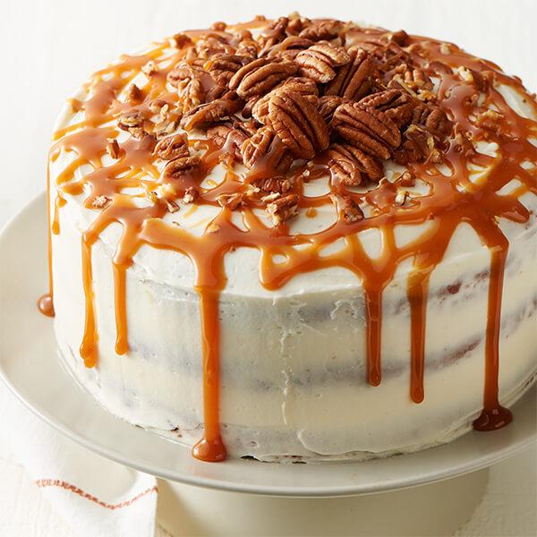 Pumpkin Pecan Layer Cake Recipe
