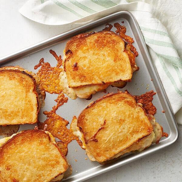 Sheet Pan Garlic Bread Grilled Cheese image
