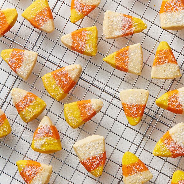 Sparkling Candy Corn Cookies (Gluten-Free Recipe) Image