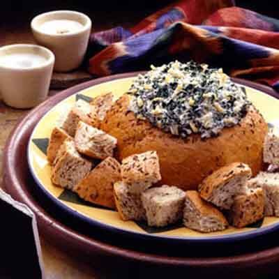 Spinach Cheddar Bread Bowl Image