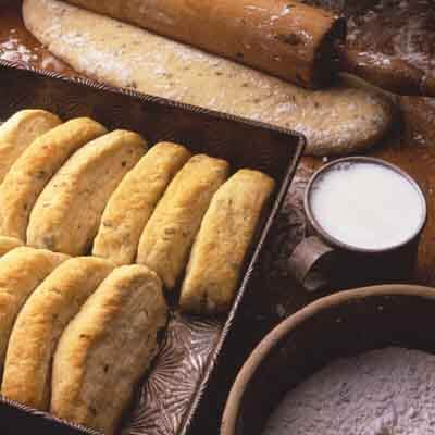 Parmesan Butter Pan Biscuits Image