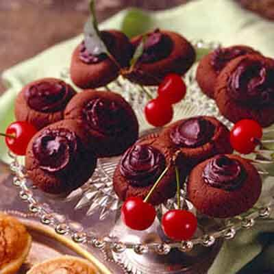 Cherry Chocolate-Covered Cookies Recipe