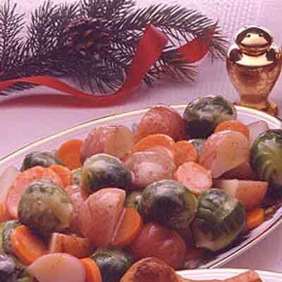 winter vegetables with mustard sauce image