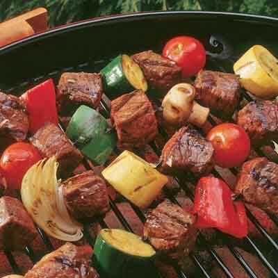 Pepper Garlic Beef Kabobs Image