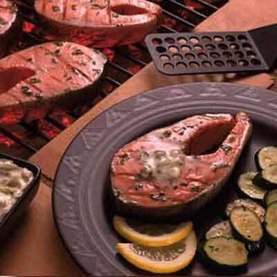 Grilled Salmon With Tarragon Butter Image