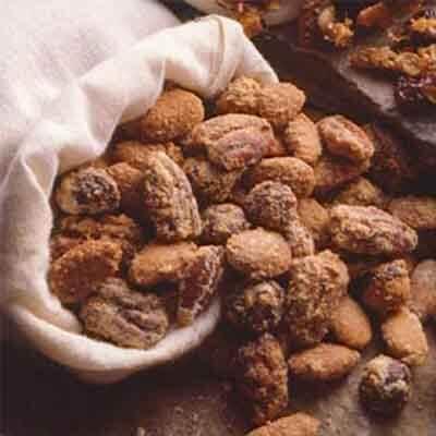 orange cinnamon spiced nuts