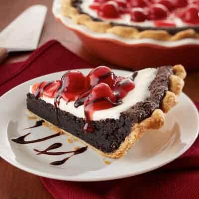 Cherry Sour Cream Fudge Pie Image