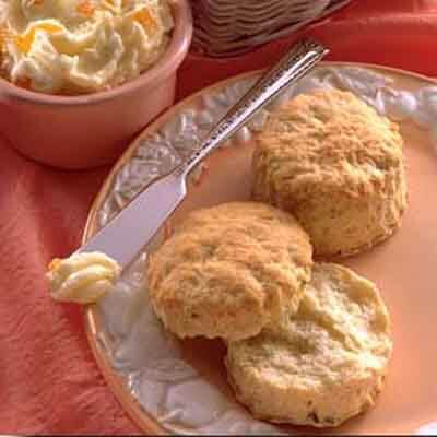 Flaky Rosemary Biscuits With Peach Butter Image