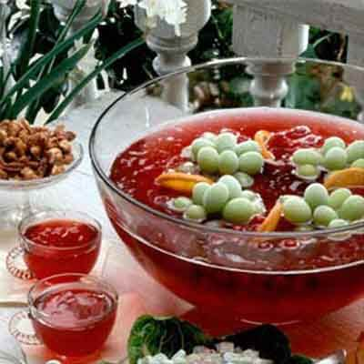 Sparkling Punch With Fruit Ice Ring Image