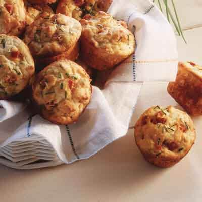 Pepperoni 'n Chive Mini Muffins Image