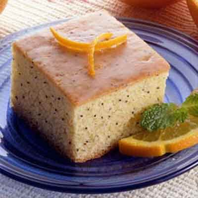 Orange Sour Cream Poppy Seed Cake Image