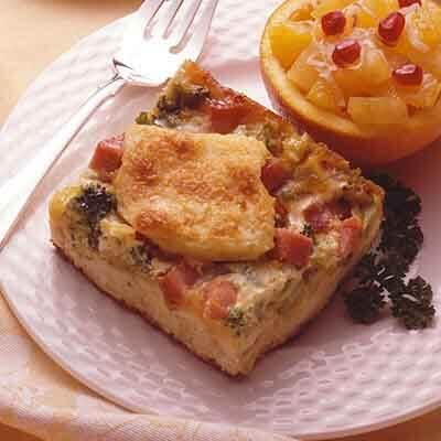 Ham & Broccoli Strata Image